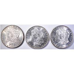 1880-S, 81-O & 1902-O CH BU MORGAN DOLLARS