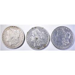 1881 AU, 90-S AU & 1903 VG MORGAN DOLLARS