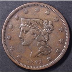 1841 LARGE CENT, VF+ BETTER DATE