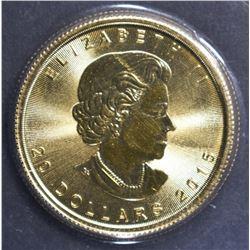 2015 $20 CANADA 1/2oz .9999 GOLD COIN SEALD IN CEL