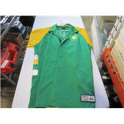 BOSTON CELTICS WARM UP BUTTON UP SHIRT