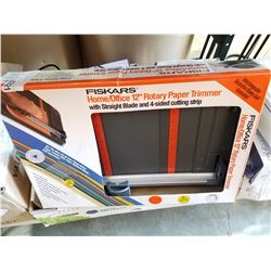 "FISKARS 12"" ROTARY PAPER TRIMMER IN BOX"