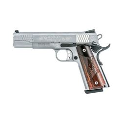 "S& W 1911 45ACP 8RD STS 5"" FS ENGRVD"