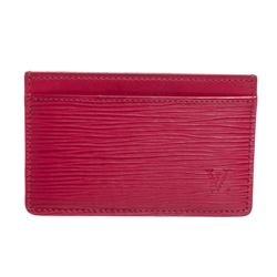 Louis Vuitton Pink Epi Leather Card Holder Wallet