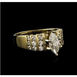 14KT Yellow Gold 0.91 ctw Diamond Ring