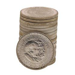 Roll of (20) 1954-S Booker T. Washington Commemorative Half Dollar Coins