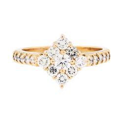 0.75 ctw Diamond Ring - 14KT Rose Gold