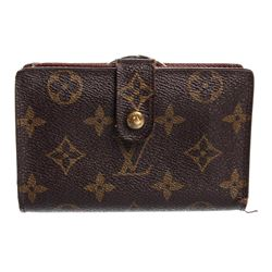 Louis Vuitton Canvas Leather Monogram French Wallet