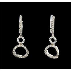 0.38 ctw Diamond Earrings - 14KT White Gold