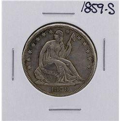 1859-S Seated Liberty Half Dollar Coin