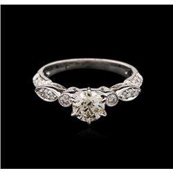0.80 ctw Diamond Ring - 18KT White Gold