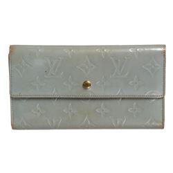 Louis Vuitton Blue Vernis Leather Porte Tresor International Wallet
