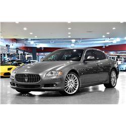2010 Grey Maserati Quattroporte S Sedan