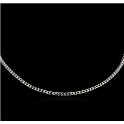 "16"" Spiga Chain Necklace - 14KT White Gold"