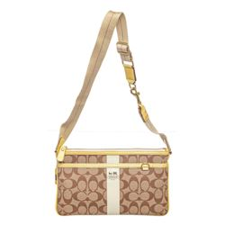 Coach Brown Coated Canvas Patent Leather Trim Waist Bag