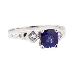 1.00 ctw Sapphire and Diamond Ring - Platinum