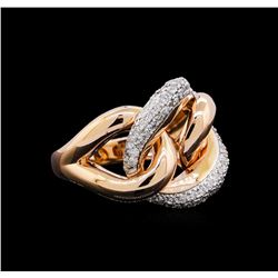 0.53 ctw Diamond Ring - 14KT Rose and White Gold