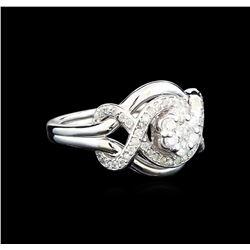 0.56 ctw Diamond Ring - 14KT White Gold