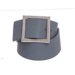 Bvlgari Light Blue Oversized Buckle Belt