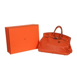 Hermes Orange  Birkin 40 Handbag - Circa 2005