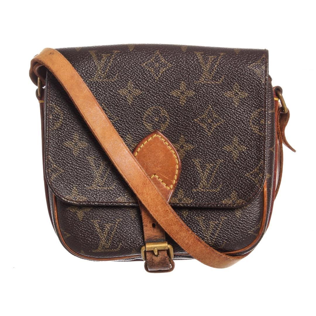f9e5366f17b3 Image 1   Louis Vuitton Monogram Canvas Leather Cartouchiere PM Shoulder Bag  ...