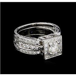 1.80 ctw Diamond Ring - 18KT White Gold