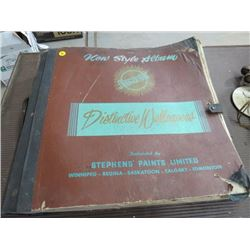 1955 SALESMAN WALLPAPER SAMPLE BOOK *APPROX 150 PAGES*