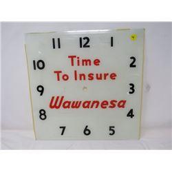 "CLOCK FACE (WAWANESA) (GLASS 15"" SQUARE)"