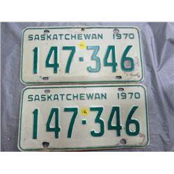1965 SASK LICENSE PLATES