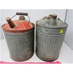 LOT OF 2 TWO GAL. JERRY CANS