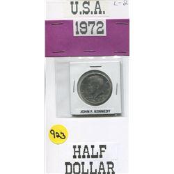 FIFTY CENT COIN (USA) *1972 JOHN F. KENNEDY*
