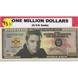 NOVELTY ONE MILLION DOLLAR BILL (ELVIS)