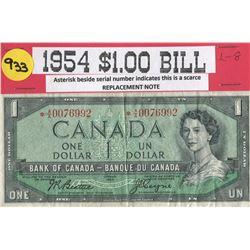 ONE DOLLAR BILL (CANADA) *1954*