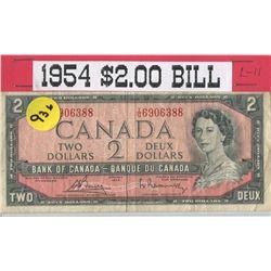 TWO DOLLAR BILL (CANADA) *1954*