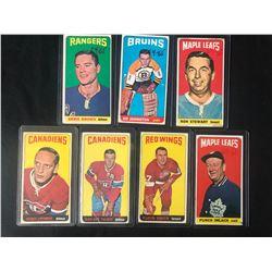 1964-65 TOPPS TALL BOY HOCKEY CARD LOT