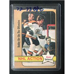 """1972-73 O-PEE-CHEE #58 NHL ACTION """"BOBBY ORR ON THE OFFENSE"""""""