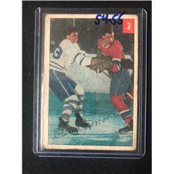 1954-55 Parkhurst Montreal Canadiens Hockey Card #2 Dickie Moore