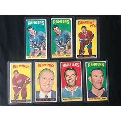 1964-65 TOPPS TALL BOYS HOCKEY CARD LOT