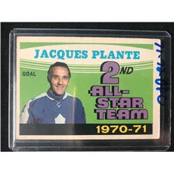 1971-72 O-Pee-Chee Jacques Plante 2nd All-Star Team #256