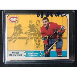 1968-69 O-Pee-Chee #64 Mickey Redmond Rookie Hockey Card
