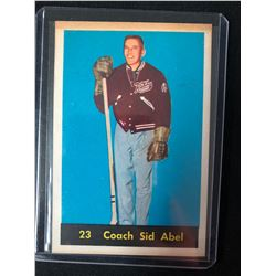 1960-61 PARKHURST #23 Coach Sid Abel - Detroit Red Wings