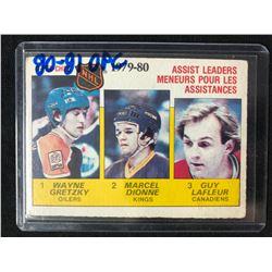1980-81 O-PEE-CHEE Gretzky / Dionne / LaFleur 1979-80 Assist Leaders #162