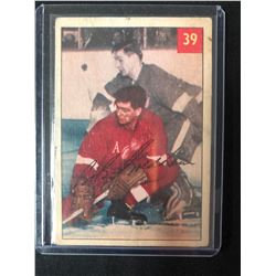 1954-55 Parkhurst Detroit Red Wings Hockey Card #39 Bob Goldham