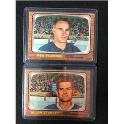 1966-67 TOPPS HOCKEY CARD LOT (FLEMING/ STANLEY)