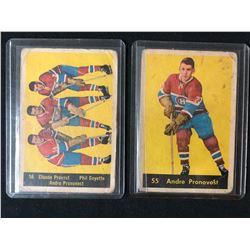 1960-61 PARKHURST HOCKEY CARD LOT