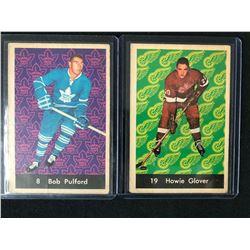 1961-62 PARKHURST HOCKEY CARD LOT (PULFORD/ GLOVER)
