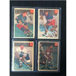 1954-55 PARKHURST HOCKEY CARD LOT