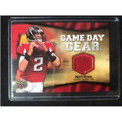 2009 Upper Deck Game Day Gear #NFL-MR Matt Ryan Atlanta Falcons Football Card