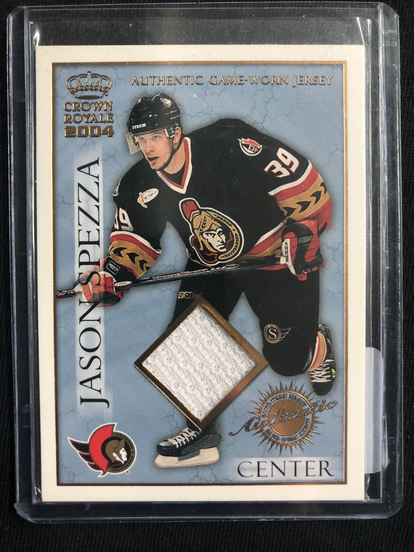 new product c3956 526ff 2003-04 Pacific Crown Royale Authentic Game-Worn Jerseys Retail #17 Jason  Spezza