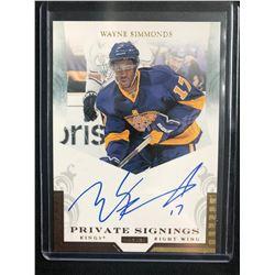 2011-12 Pinnacle Private Signings #WS Wayne Simmonds Los Angeles Kings Auto Card